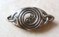 Vintage Miracle Celtic Spiral Brooch.